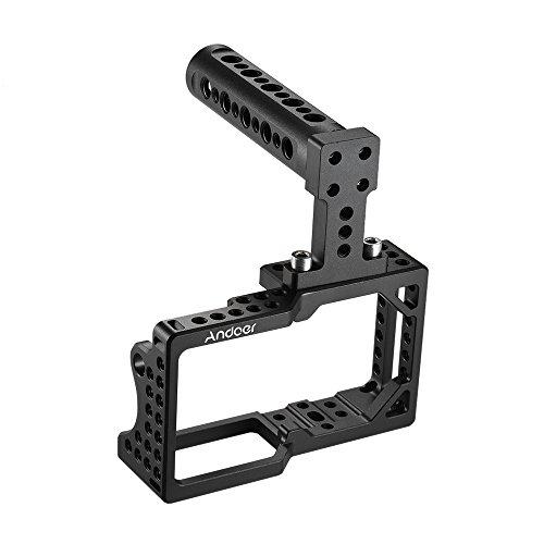 Andoer Videokamera Cage Stabilisator Protector mit Top Handle für BMPCC Kamera zur Montage Mikrofon Monitor Stativ LED Licht Foto Zubehr