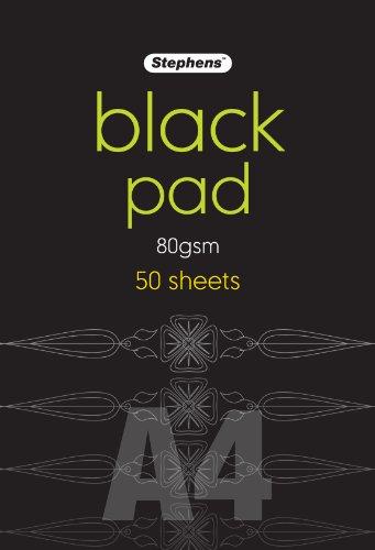Stephens RS545453 DIN-A4-Papierblock, schwarz Hergestellt in Großbritannien