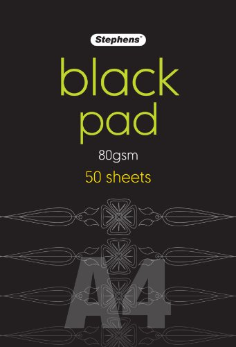 Stephens - Hojas negras de papel (A4)