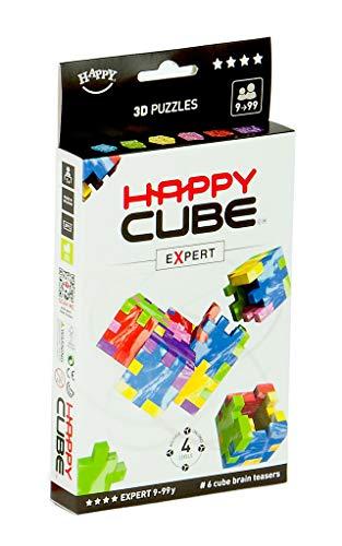 Expert   Juego de 6 Rompecabezas 3D, Colores, 1 Puzzle = 12 x 9 x 0,8 cm (Würfel 4 cm) (HCE300)