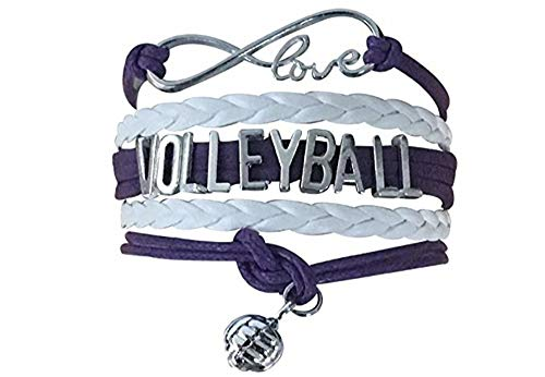 Volleyball Bracelet- Volleyball Purple Jewelry - Great Gift for Volleyball Players & Volleyball Teams