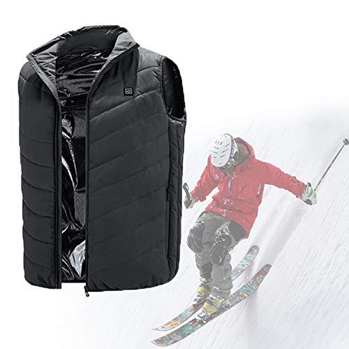 HTDHS Chaqueta calefactora de batería para hombres y mujeres, calentador de cuerpo con 3 temperaturas ajustables para exteriores, caza, camping, senderismo, esquí (color verde, tamaño: grande)