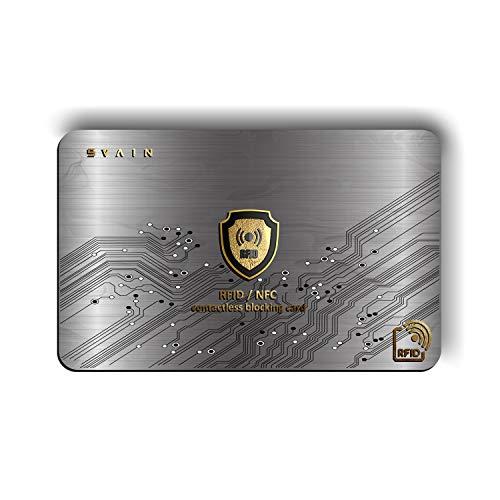 RFID Schutz für Kontaktlose Kreditkarten - Blocker Karte mit RFID/NFC Abschirmung für Debitkarten, Reisepass, Ausweisschutz, Für Männer und Frauenbrieftasche