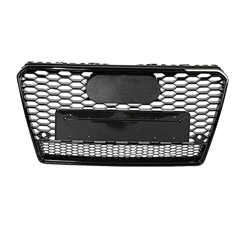 BAIYUN para RS7 Style Front Sport Hex Mesh Honeycomb HoodGrill Gloss Black Fit para Audi A7 / S7 2011-2014