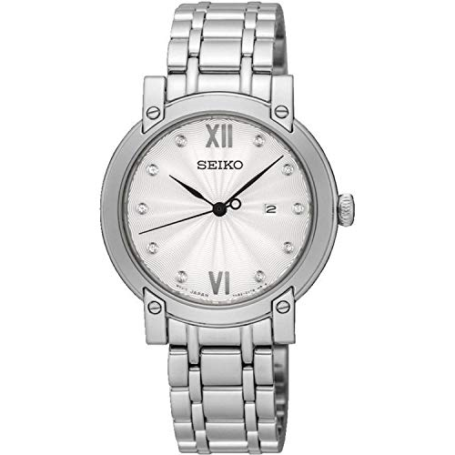 Seiko Dames analoog kwarts horloge met roestvrijstalen armband SXDG79P1
