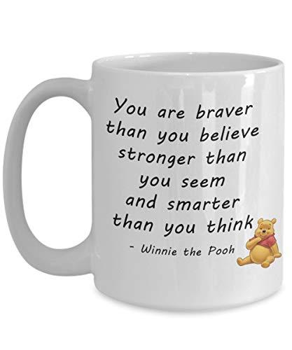 N\A Regalos de Moda Taza de Oso Pooh - Taza de té de café de Winnie The Pooh - Ideas de Regalos inspiradores para Mujeres Hombres Amigos compañeros de Trabajo graduación
