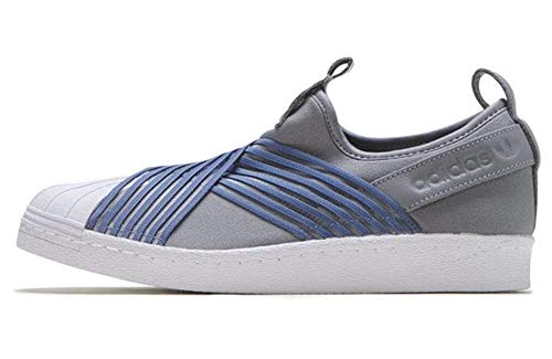 Adidas Originals Superstar Slip On - Zapatillas para mujer, Multicolor (Gris/Navy/Blanco), 38 EU