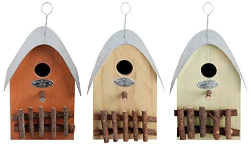 Esschert Nistkasten Kohlmeise Blaumeise Sperlinge Trauerschnäpper Vogelhaus Holz