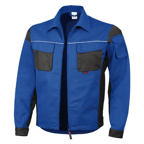 Qualitex Arbeitsjacke Professionell Pro MG 245 – mehrere Farbe Gr. Large, - Bleu/noir