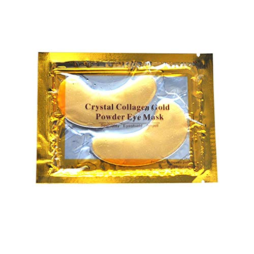 NELNISSA Nellnissa 1 Paar Kristal Collageen Goud Poeder Oogmasker Anti Wrinkle Eye Pad Oogverzorging
