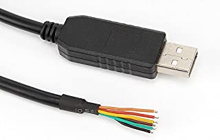 Green-utech USB TTL 3.3v Cable 6ft FT232rl chipset Comptible TTL-232r-3v3-we Cable 6ft