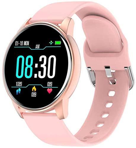SLM-max Multifunción Reloj Inteligente a Prueba de Agua IP68 para Mujer, Relojes Inteligentes con Bluetooth, rastreador de Fitness con Monitor de frecuencia cardíaca pa