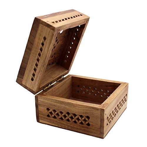 Gall&Zick Holzbox, Holzkiste mit Deckel,Teakholz, Dekobox, Handarbeit,