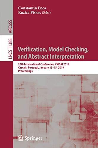 Verification, Model Checking, and Abstract Interpretation: 20th International Conference, VMCAI 2019