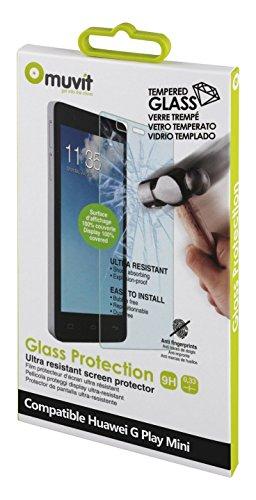 Muvit MUTPG0082 G Play Mini - Protector de pantalla (Protector de pantalla, Huawei, G Play Mini, Resistente a golpes, Transparente, 1 pieza(s))