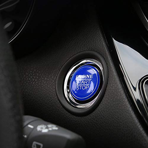 Xotic Tech Engine Ignition Start Button Cover Trim Compatible with Lexus IS200t IS250 IS300 IS350 is-F ES350 ES300h GS300 GS350 GS460 GS-F (Blue) 1.18