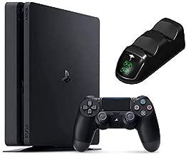 2020 Playstation 4 PS4 Slim 1TB Console Holiday Bundle, Light & Slim PS4 System, 1TB Hard Drive Ghost Manta Charging Station Dock Bundle