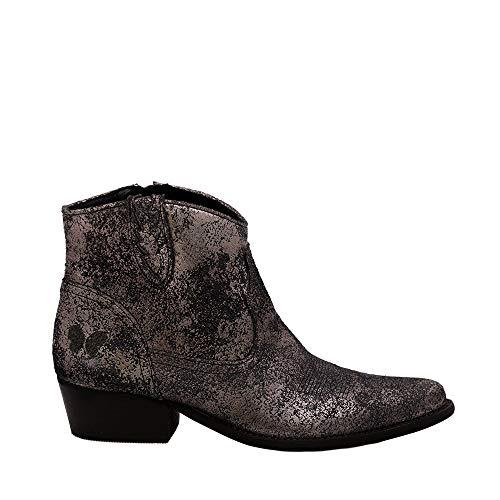 Felmini - Damen Schuhe - Verlieben West B504 - Cowboy & Biker Stiefeletten - Echtes Leder - Mehrfarbig - 37 EU Size