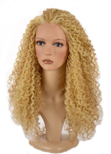 Hair By MissTresses Licht blonde mix lang Spirale Afro Curl Perücke/Lace Front Queen B Perücke/im Stil von Beyonce