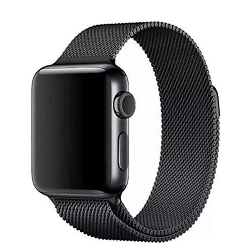 Cinturino Compatibile per Apple Watch Cinturino 42mm 44mm, Maglia Milanese Cinturino in Acciaio Inossidabile in Metallo per iWatch Serie 6/5/4/3/2/1/SE 42/44MM Argento OCTOWAY (Nero)