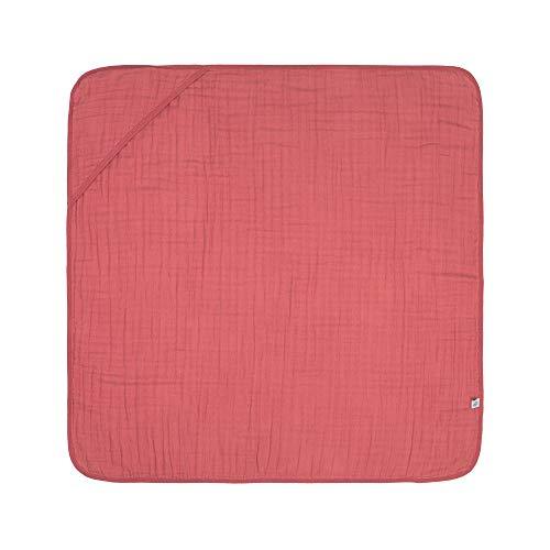 Lässig 1312015611 Muslin Hooded Towel rosewood, rosa, 180 g