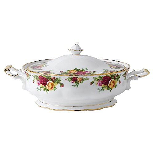 Royal Albert Old Country Roses Covered Vegetable Bowl, 12