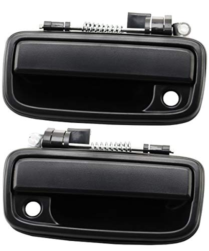 Exterior Door Handle Front Left & Right Pair with Key Hole | Replacement for 1995-2004 Toyota Tacoma | Replaces# 69220-35020, 69210-35020