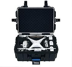 HUL Military Spec Waterproof Hard Shell Case for DJI Phantom 3 Standard/SE/Professional/Advanced / 4K / Phantom 4 / Phantom 4 Pro Drones (Blue)