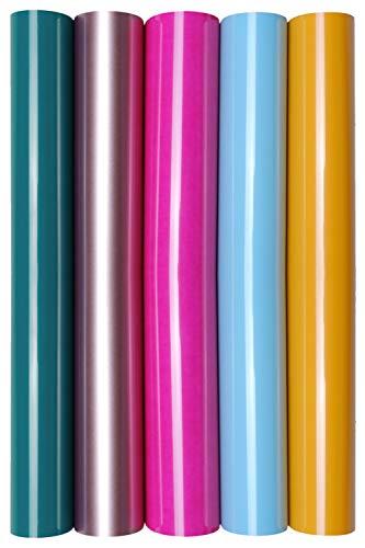 5 x A4 Transferfolie/Textilfolie zum Aufbügeln auf Textilien - perfekt zum Plottern, P.S. Film:5er Set Party