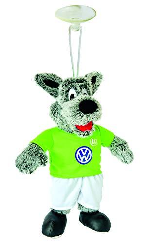 VFL Wolsfburg Maskottchen Wölfi mit Saugnapf 22cm