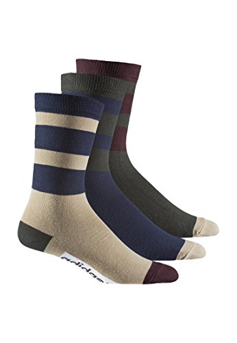 adidas Calcetines Pack de tres Thin Crew Sock ab3916Multicolor night cargo / hemp / collegiate navy