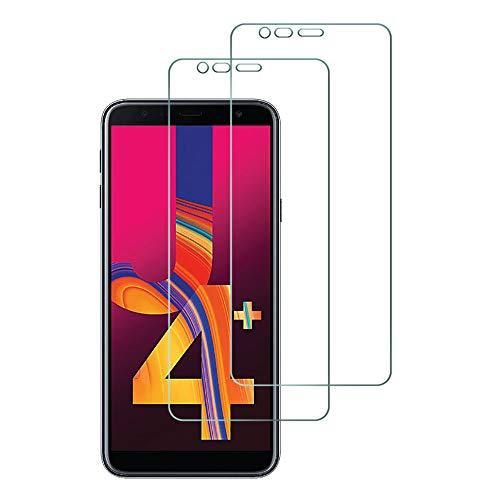 Widamin 2Pack, Panzerglas Kompatibel mit Samsung Galaxy J4 Plus/Galaxy J4+, Bildschirmschutzfolie, Hohe Auflösung Glas, [9H Festigkeit], [Crystal Clearity], [Kratzfest], [No-Bubble]