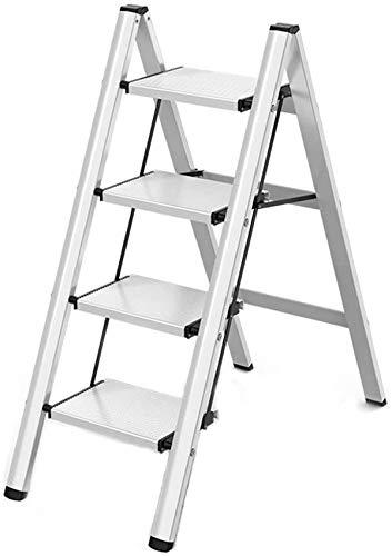 DNSJB Multi-Use Ladder Heavy Duty Step Ladders Vouwen Veiligheid Stap Kruk Trap Ladder met Brede Platform Stappen Draagbare Ruimte Saving Lichtgewicht Ladders Geweldig voor Huishoudelijke Markt of Kantoor
