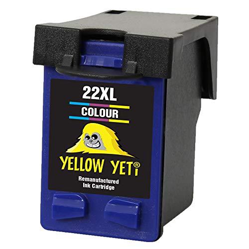 Yellow Yeti Remanufacturado 22XL 22 XL Cartucho de Tinta Color para HP Deskjet F2120 F2180 F2280 F335 F375 F380 F390 F4180 F4190 3940 D1460 D1530 D2360 D2460 Officejet 4315 4355 PSC 1410 1415