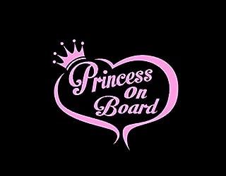 CCI Princess On Board Decal Vinyl Sticker|Cars Trucks Vans Walls Laptop|PINK|5.5 in|CCI371