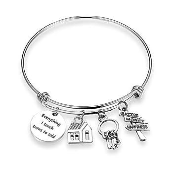 Realtor Bracelet Everything I Touch Turns to Sold Bracelet Real Estate Agent Bracelet Jewelry Realtor Jewelry Gifts Thank You Gift  Touch sold BR
