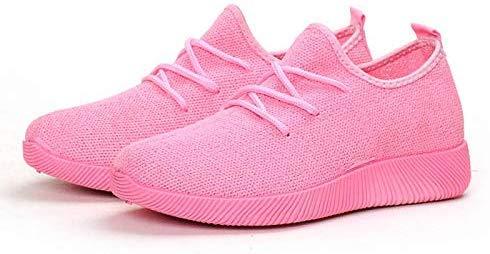 Huaheng Vrouwen Comfy Sport Sneakers Ademende Mesh Platform Wandelschoenen voor de zomer Laag-Top 38 roze
