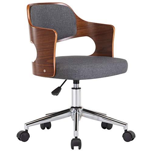 vidaXL Bugholz Bürostuhl Drehbar Höhenverstellbar Schreibtischstuhl Büromöbel Stuhl Chefsessel Bürosessel Drehstuhl Computerstuhl Garu Stoff