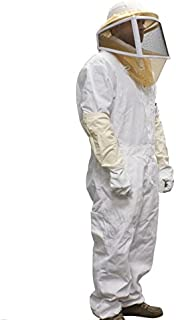 Complete Bee Keeper Suit Helmet Pants Gloves Pest Control bee wasps hornets yellow jackets etc.. Your Choice of size Large or Extra Large or XXL