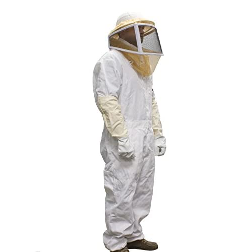 White Protective Suit Protective Clothing Protection Clothes Durable Bee Coat