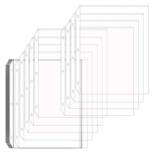 Office Sheet Protectors 8.5 x 11 Clear Sheet Protectors Page Protectors Plastic Sleeves for Binders Plastic Sheet Protectors Duty Plastic Sleeves Safe for Photos or Printed Copy for A4 Paper 50 Pack