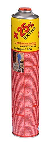 "ROTHENBERGER Industrial Multigas Jumbo 300 Gas Schraubkartusche + 25% mehr Inhalt , Anschluss: 7/16"", EU NORM EN 417 selbstverschließend, 750 ml - 1500000045"