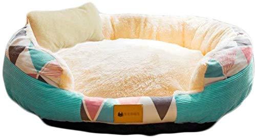 Leifeng Tower Lujo Deluxe Pet y Pet Dog: Peluche, Suave Lavable, Relajante, Cama de Perro, Cuddler de donas, Cama de Perro Redondo, Dormir cómodo, (Yellowm-18.9'x 15') (Color : Green)
