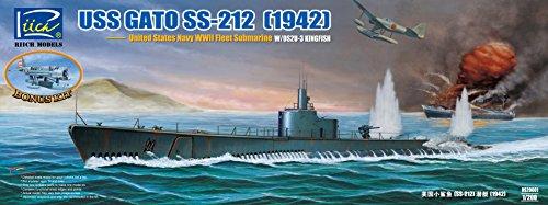 Riich Models rs20001 – Modélisme Jeu de USS Gato SS 212 Fleet Submarine 1942