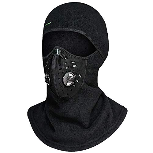 Kentop Pasamontañas Moto Negro Balaclava Invierno Esquí Máscara Motocicleta máscara Licra Resistente al Agua Resistente al Viento Thermal Universal tamaño para Hombre Mujer