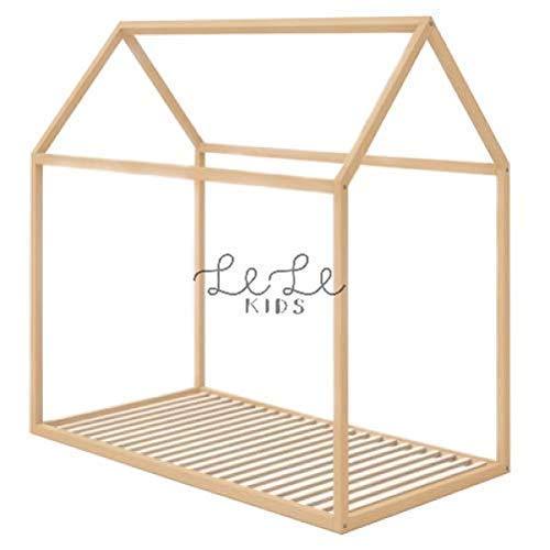 Cama Casa Infantil Montessori, Casita de Madera para niño y niña (estructura y somier): Amazon.es: Handmade