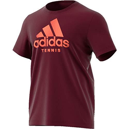 adidas Cat Logo tee M Camiseta, Hombre, Granat, XL