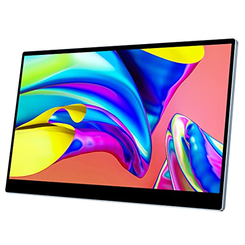 Viewturbo モバイルディスプレイ モバイルモニター 15.6インチ タッチパネル 144hz 2k WQHD 1MS DCI-P3 100%色域 折畳式 IPS 液晶 薄型 ゲーミング HDMI/Type-C/Display Port カバー付