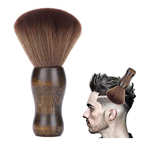 Brocha de Peluquería Cepillo de cuello peluqueria Cepillo de Cuello Brocha de Peluquería Eliminar los Residuos del Cabello Brocha de Peluquería Cepillo de limpieza Cuello plumero(Marrón)