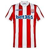 Macron Stoke 2018-2019 - Camiseta de fútbol Rojo y Blanco XL